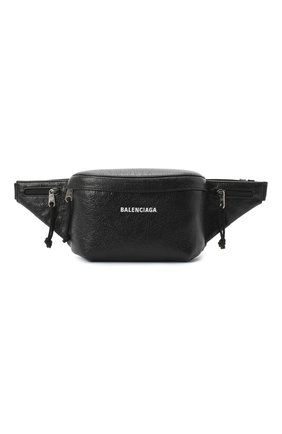 Мужская кожаная поясная сумка explorer BALENCIAGA черного цвета, арт. 617128/DB5J5 | Фото 1
