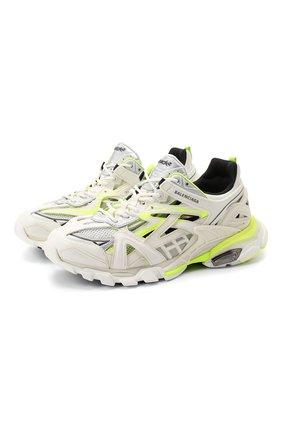 Мужские комбинированные кроссовки track.2 BALENCIAGA белого цвета, арт. 568614/W2GN3 | Фото 1
