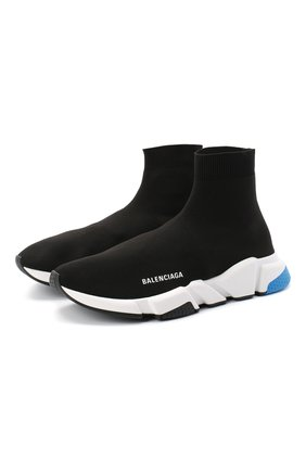 Мужские текстильные кроссовки speed BALENCIAGA черного цвета, арт. 587286/W1703 | Фото 1