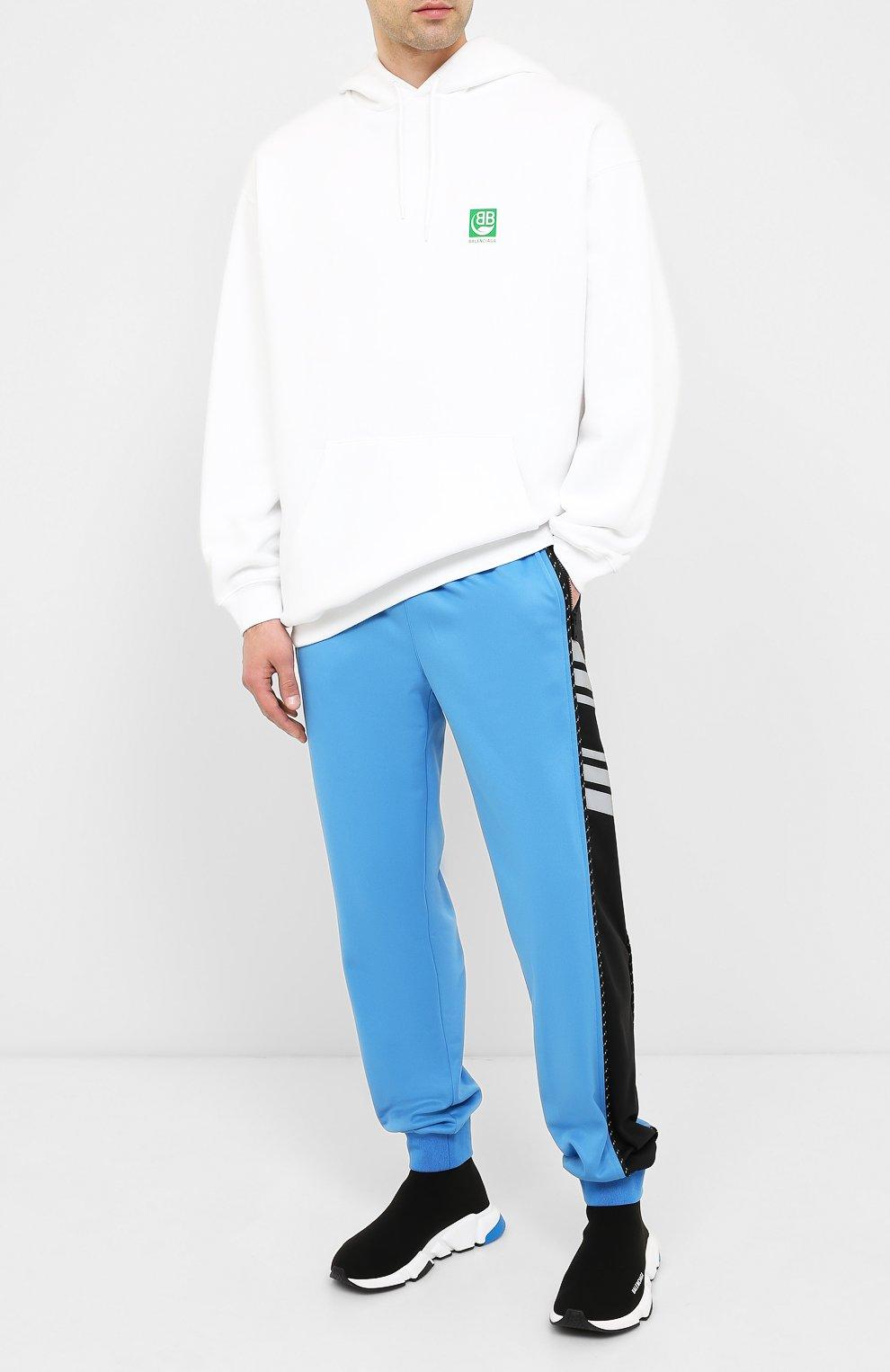 Мужские текстильные кроссовки speed BALENCIAGA черного цвета, арт. 587286/W1703 | Фото 2