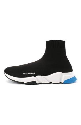 Мужские текстильные кроссовки speed BALENCIAGA черного цвета, арт. 587286/W1703 | Фото 3