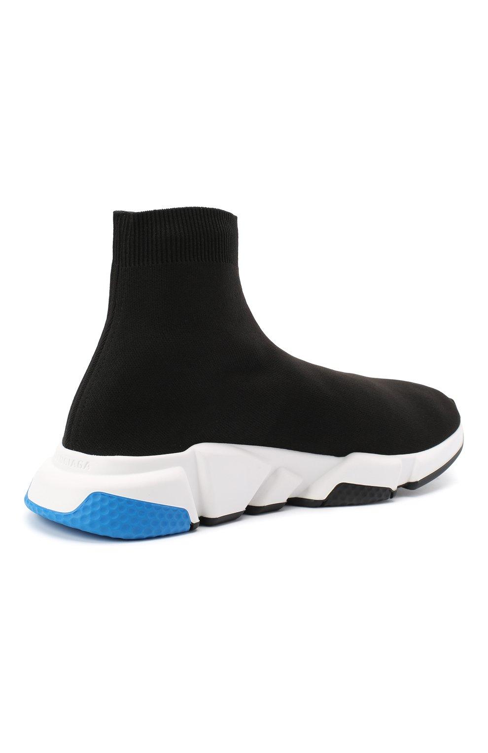 Мужские текстильные кроссовки speed BALENCIAGA черного цвета, арт. 587286/W1703 | Фото 4