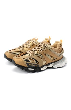 Мужские комбинированные кроссовки track BALENCIAGA золотого цвета, арт. 542023/W2CD1 | Фото 1