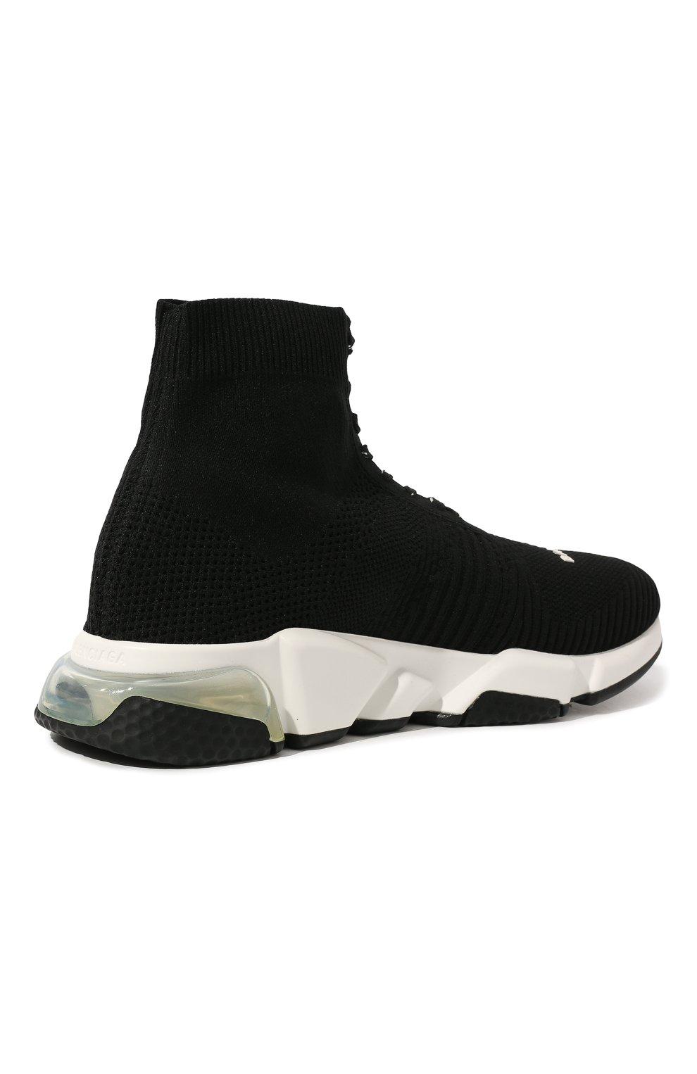 Мужские текстильные кроссовки speed clear sole BALENCIAGA черного цвета, арт. 617255/W05GG | Фото 5