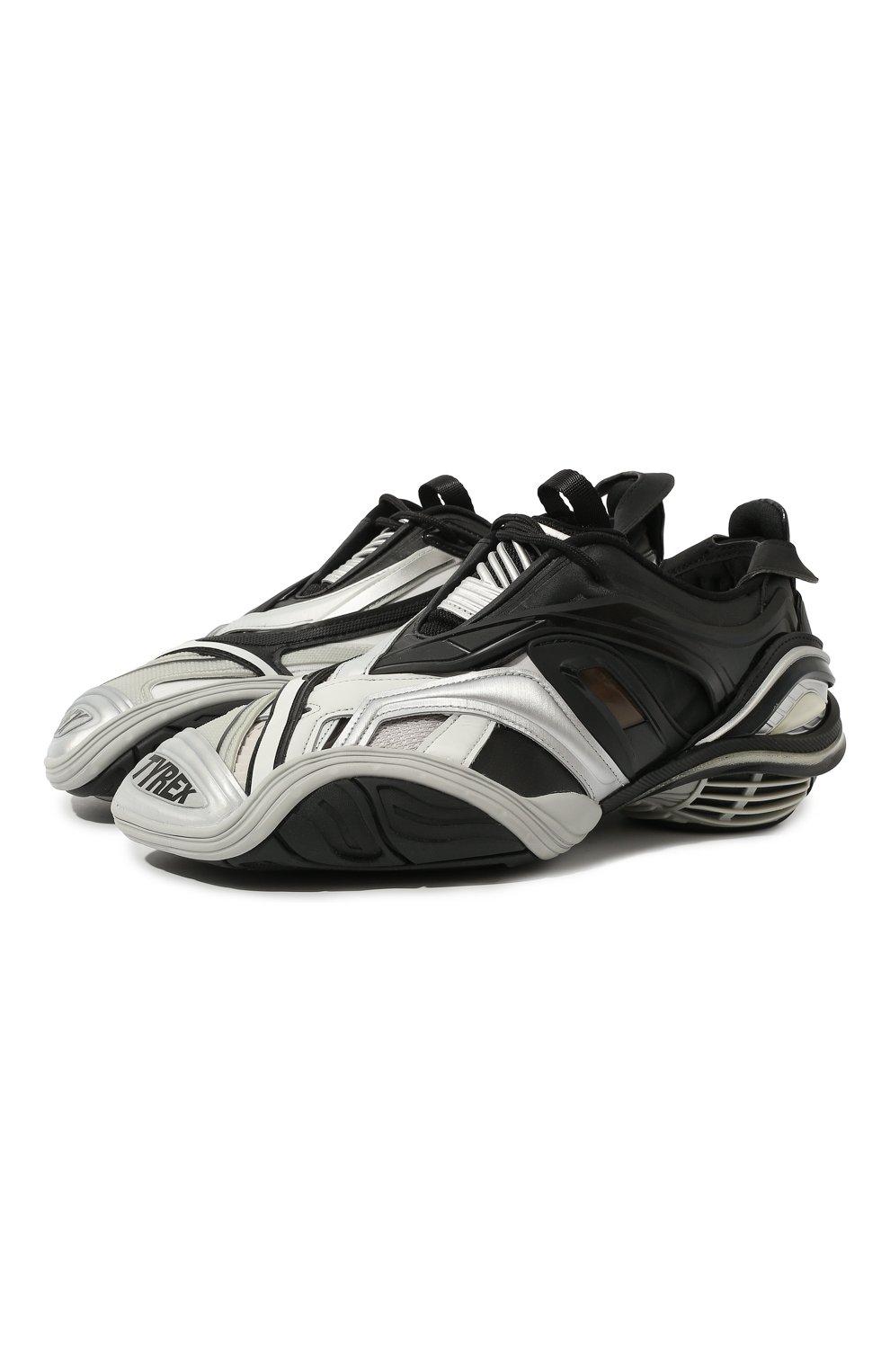 Мужские комбинированные кроссовки tyrex BALENCIAGA серебряного цвета, арт. 617535/W2CB1 | Фото 1