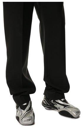 Мужские комбинированные кроссовки tyrex BALENCIAGA серебряного цвета, арт. 617535/W2CB1 | Фото 3