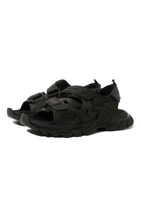Мужские комбинированные сандалии track BALENCIAGA черного цвета, арт. 617542/W2CC1 | Фото 1