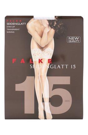 Женские капроновые чулки seidenglatt FALKE белого цвета, арт. 41590_ | Фото 1