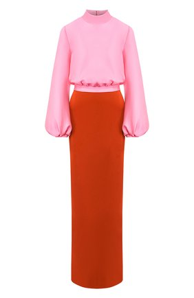 Женское платье-макси BRANDON MAXWELL разноцветного цвета, арт. GN164SS20 | Фото 1