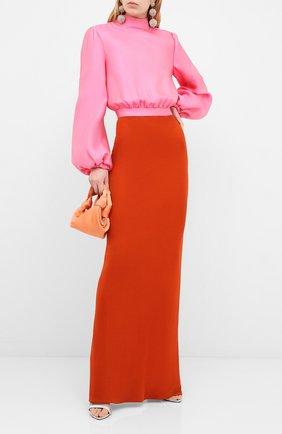 Женское платье-макси BRANDON MAXWELL разноцветного цвета, арт. GN164SS20 | Фото 2