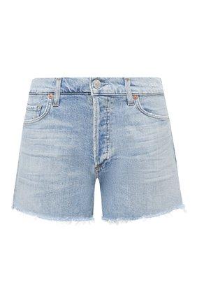 Женские джинсовые шорты CITIZENS OF HUMANITY голубого цвета, арт. 996-1172 | Фото 1