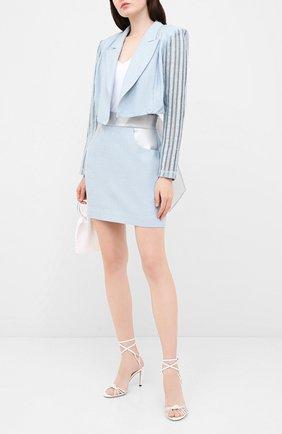 Женская юбка ULYANA SERGEENKO голубого цвета, арт. GNC005SS19P (0815т19) | Фото 2