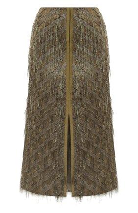 Женская юбка DOROTHEE SCHUMACHER хаки цвета, арт. 842505/DAZZLING LIGHTS | Фото 1