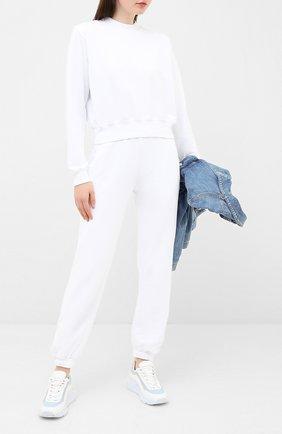 Женская хлопковый свитшот COTTON CITIZEN белого цвета, арт. W309261   Фото 2