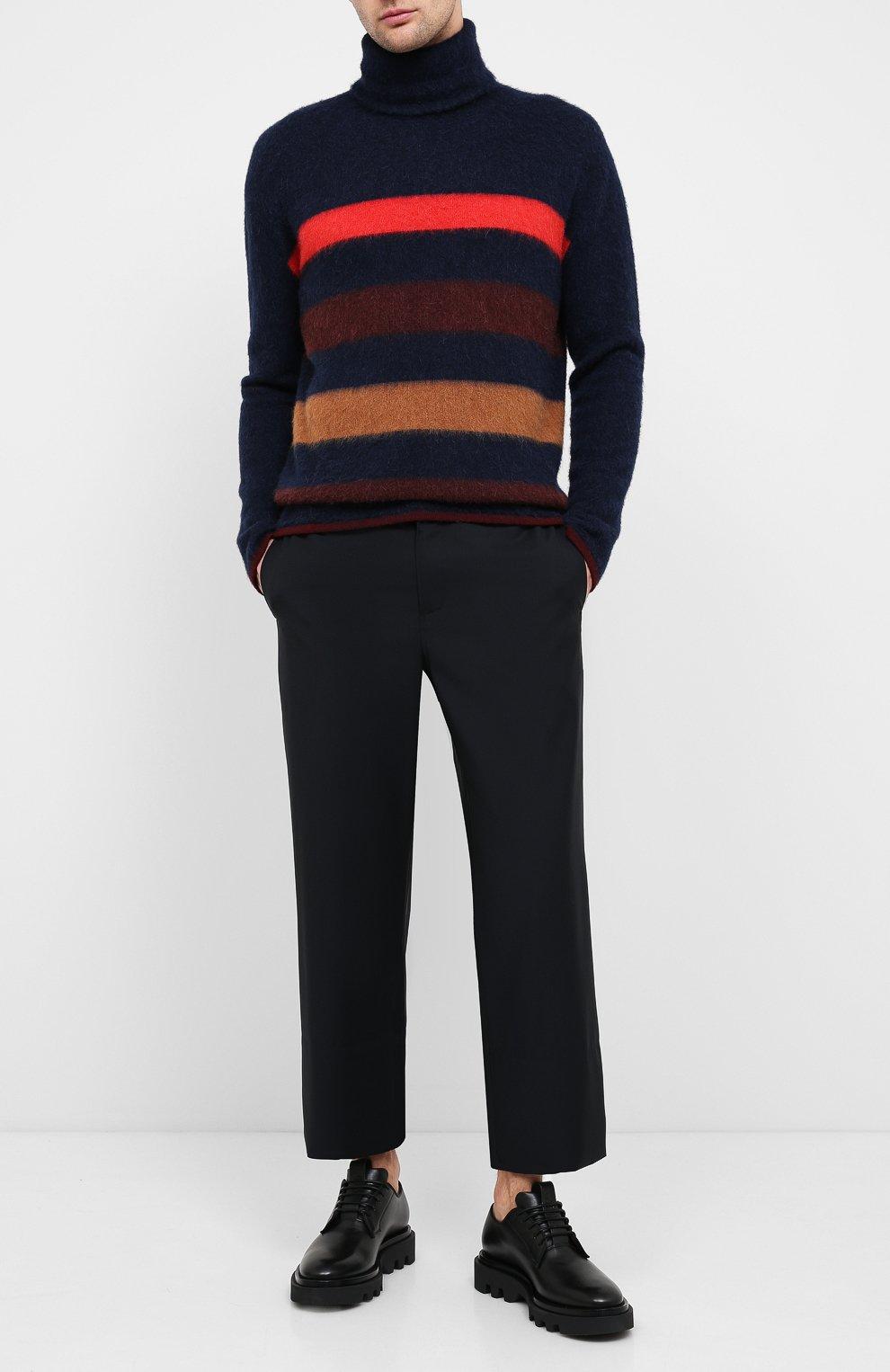 Мужской шерстяной свитер LANVIN темно-синего цвета, арт. RM-P00011-MV02-A20 | Фото 2