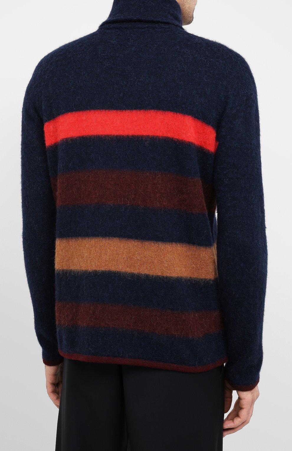 Мужской шерстяной свитер LANVIN темно-синего цвета, арт. RM-P00011-MV02-A20 | Фото 4