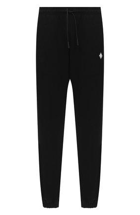 Мужской хлопковые джоггеры MARCELO BURLON черного цвета, арт. CMCH024E20FLE002 | Фото 1