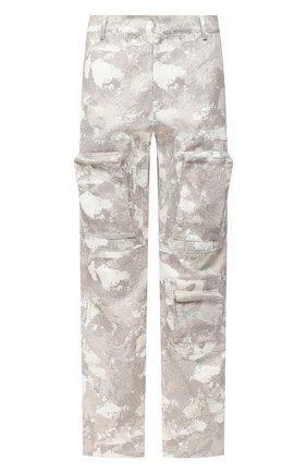 Мужской хлопковые брюки-карго MARCELO BURLON бежевого цвета, арт. CMCA158E20FAB001 | Фото 1