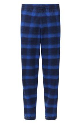 Мужской хлопковые джоггеры MARCELO BURLON синего цвета, арт. CMCA154E20FAB001 | Фото 1