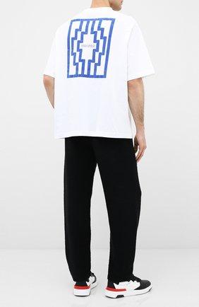 Мужская хлопковая футболка MARCELO BURLON белого цвета, арт. CMAA054E20JER010 | Фото 2