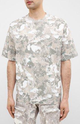 Мужская хлопковая футболка MARCELO BURLON бежевого цвета, арт. CMAA054E20JER007   Фото 3 (Рукава: Короткие; Длина (для топов): Стандартные; Мужское Кросс-КТ: Футболка-одежда; Материал внешний: Хлопок; Стили: Кэжуэл)