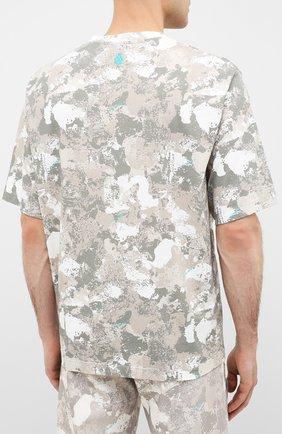 Мужская хлопковая футболка MARCELO BURLON бежевого цвета, арт. CMAA054E20JER007   Фото 4 (Рукава: Короткие; Длина (для топов): Стандартные; Мужское Кросс-КТ: Футболка-одежда; Материал внешний: Хлопок; Стили: Кэжуэл)