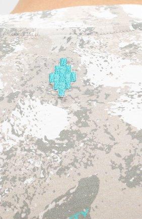 Мужская хлопковая футболка MARCELO BURLON бежевого цвета, арт. CMAA054E20JER007   Фото 5 (Рукава: Короткие; Длина (для топов): Стандартные; Мужское Кросс-КТ: Футболка-одежда; Материал внешний: Хлопок; Стили: Кэжуэл)