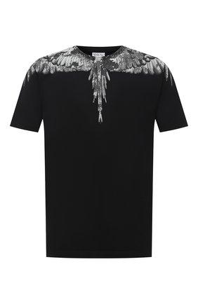 Мужская хлопковая футболка MARCELO BURLON черного цвета, арт. CMAA018E20JER002 | Фото 1