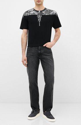 Мужская хлопковая футболка MARCELO BURLON черного цвета, арт. CMAA018E20JER002 | Фото 2