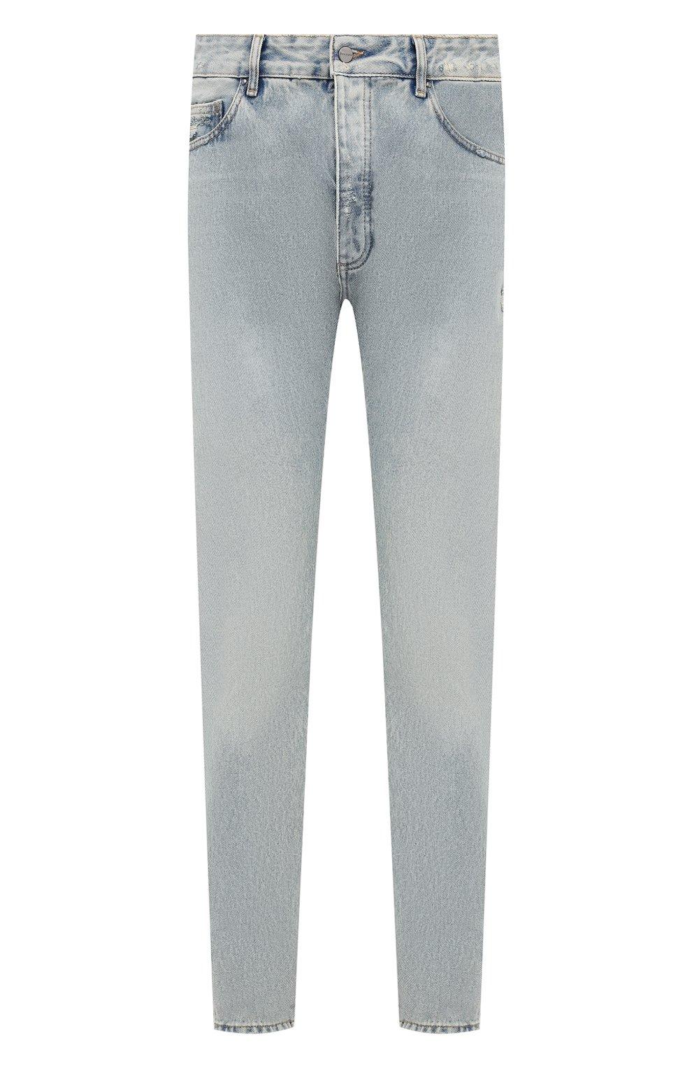 Мужские джинсы PALM ANGELS синего цвета, арт. PMYA012E20DEN0024001 | Фото 1