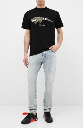 Мужские джинсы PALM ANGELS синего цвета, арт. PMYA012E20DEN0024001 | Фото 2