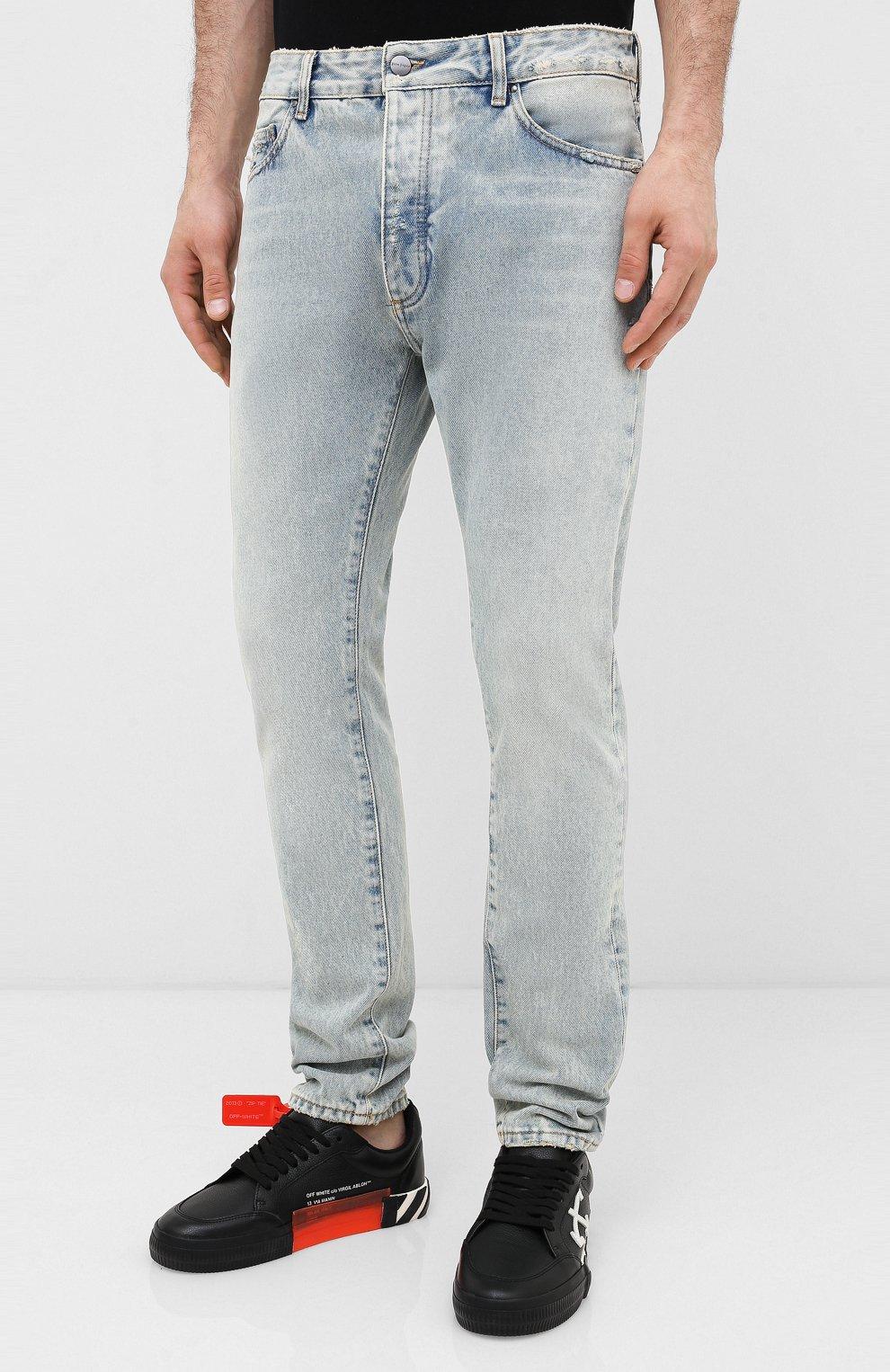 Мужские джинсы PALM ANGELS синего цвета, арт. PMYA012E20DEN0024001 | Фото 3