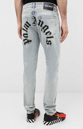 Мужские джинсы PALM ANGELS синего цвета, арт. PMYA012E20DEN0024001 | Фото 4