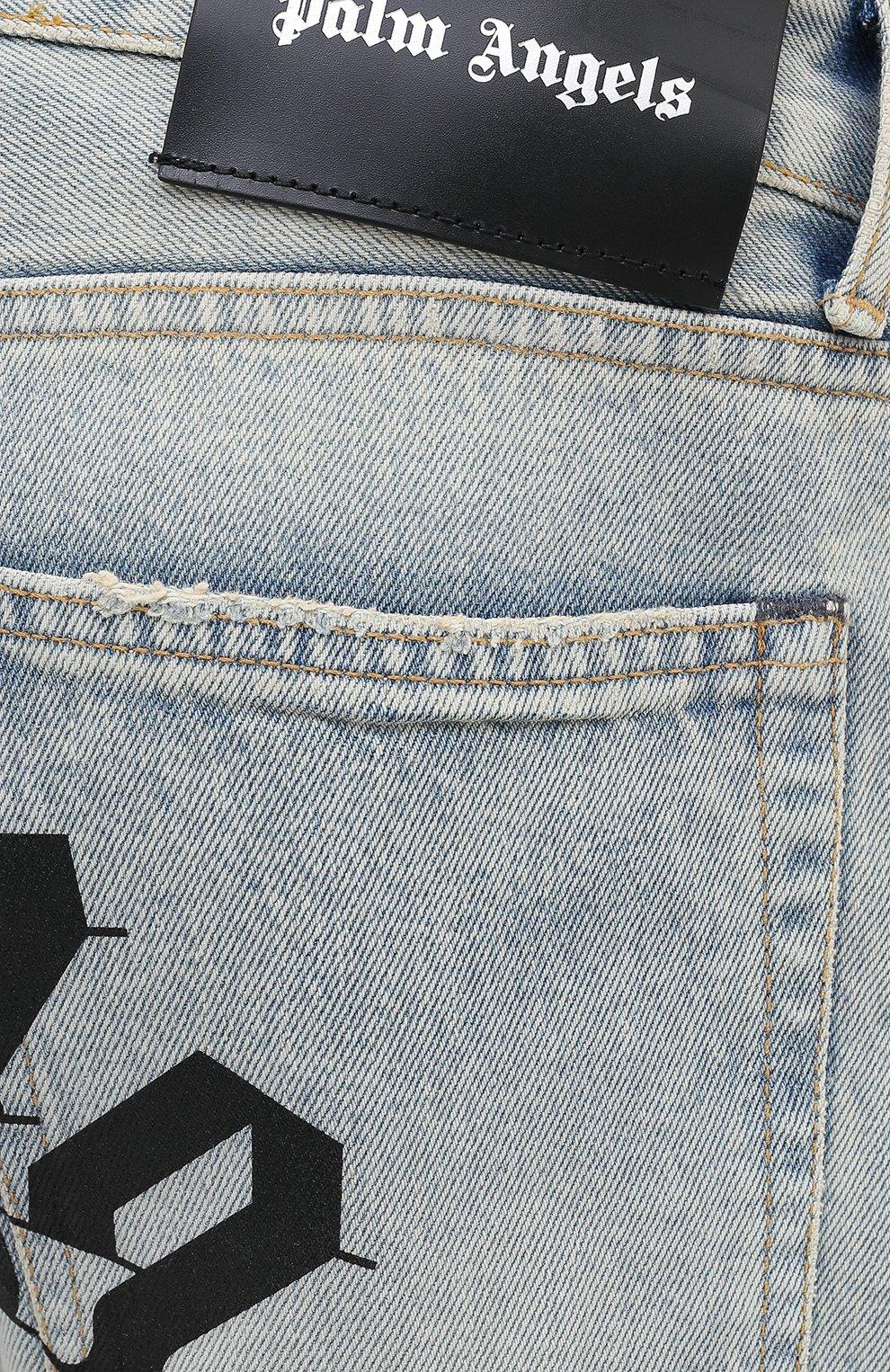 Мужские джинсы PALM ANGELS синего цвета, арт. PMYA012E20DEN0024001 | Фото 5