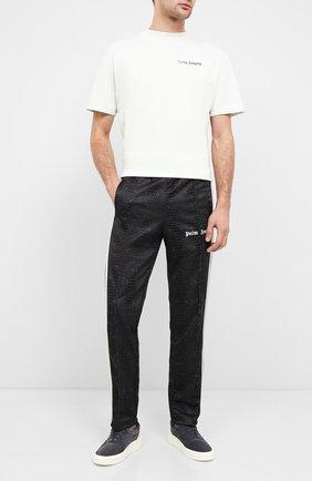 Мужской брюки PALM ANGELS коричневого цвета, арт. PMCA007E20FAB0086401 | Фото 2