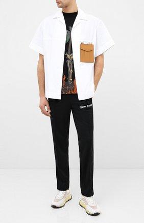 Мужской брюки PALM ANGELS черного цвета, арт. PMCA007E20FAB0011001 | Фото 2