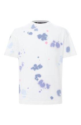Мужская хлопковая футболка PALM ANGELS разноцветного цвета, арт. PMAA001E20JER0140184 | Фото 1