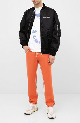 Мужская хлопковая футболка PALM ANGELS разноцветного цвета, арт. PMAA001E20JER0140184 | Фото 2