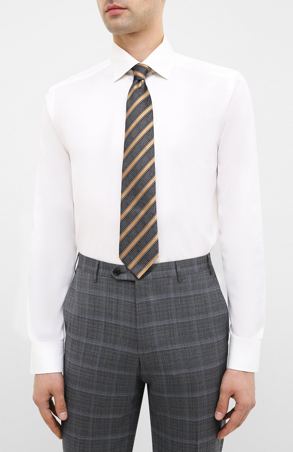 Мужская хлопковая сорочка ETON бежевого цвета, арт. 3000 79511 | Фото 4