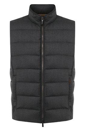 Мужской пуховый жилет MOORER темно-серого цвета, арт. 0LIVER-L/A20M160LANA | Фото 1