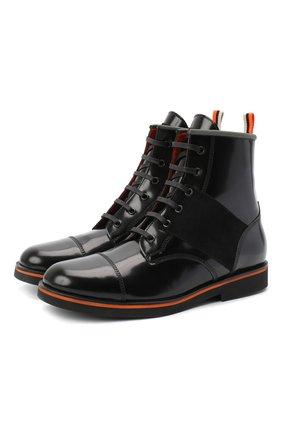 Детские кожаные ботинки RONDINELLA черного цвета, арт. 11604F/5974/40-42 | Фото 1