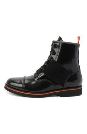Детские кожаные ботинки RONDINELLA черного цвета, арт. 11604F/5974/40-42 | Фото 2