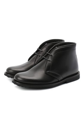 Детские кожаные ботинки RONDINELLA черного цвета, арт. 11755C/662/24-27 | Фото 1