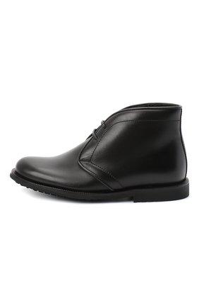 Детские кожаные ботинки RONDINELLA черного цвета, арт. 11755C/662/24-27 | Фото 2
