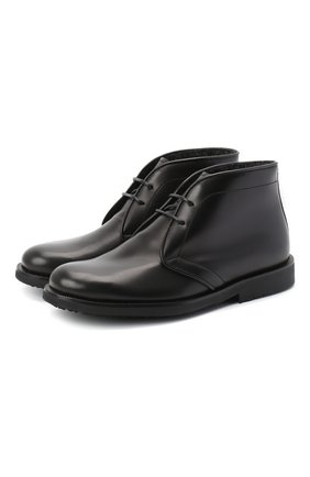 Детские кожаные ботинки RONDINELLA черного цвета, арт. 11755C/662/28-30 | Фото 1