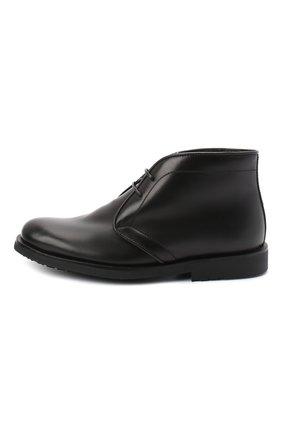 Детские кожаные ботинки RONDINELLA черного цвета, арт. 11755C/662/28-30 | Фото 2