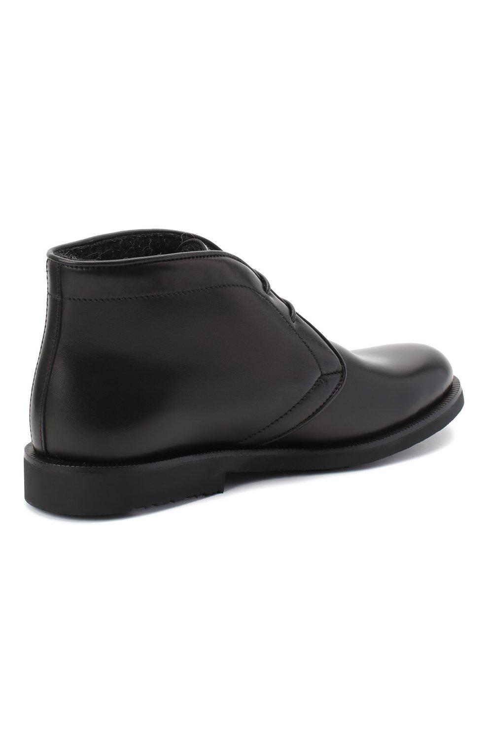 Детские кожаные ботинки RONDINELLA черного цвета, арт. 11755C/662/28-30 | Фото 3