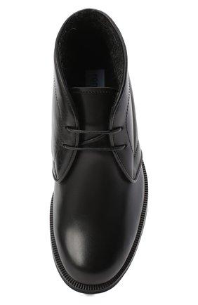 Детские кожаные ботинки RONDINELLA черного цвета, арт. 11755C/662/28-30 | Фото 4