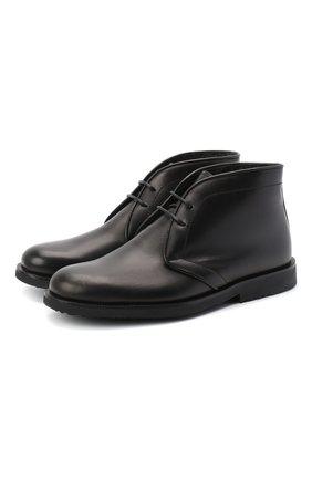 Детские кожаные ботинки RONDINELLA черного цвета, арт. 11755C/662/31-33 | Фото 1