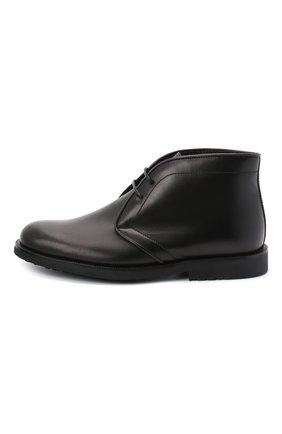 Детские кожаные ботинки RONDINELLA черного цвета, арт. 11755C/662/31-33 | Фото 2